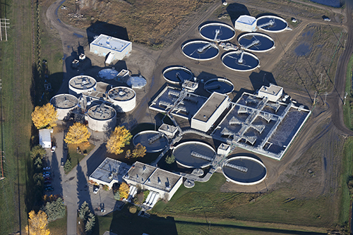 modern water treatment plant